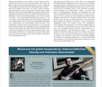 Top review in German Bluesnews!