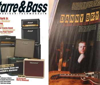 Danny Featured In The March Issue Of Gitarre & Bass Magazine